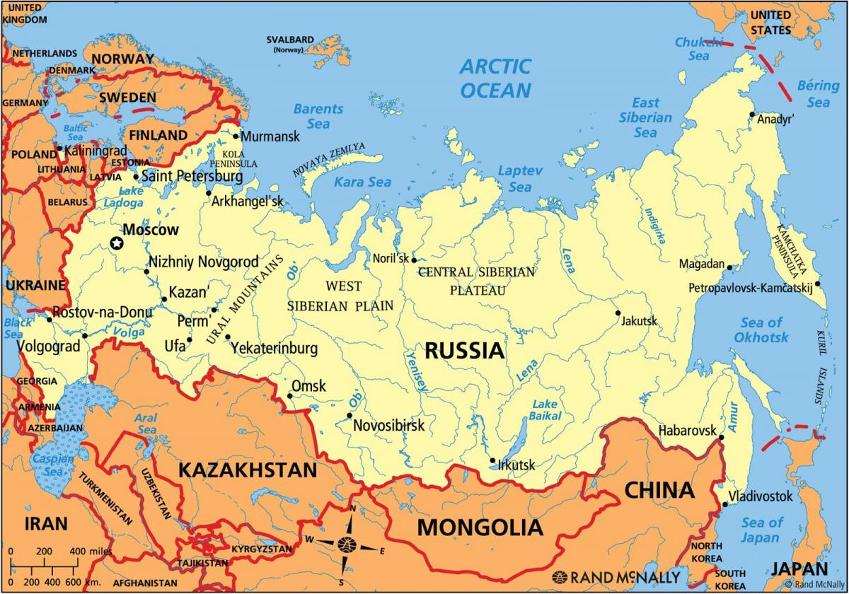 Cartina Siberia Russia.Saat Ini Peta Rusia Rusia Saat Ini Peta Eropa Timur Eropa